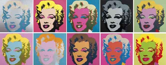 Serigrafía de Marilyn Monroe hecha por Andy Warhol