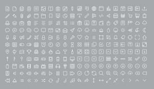 diseño lineal iconos