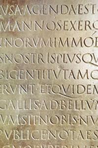 escritura en piedra