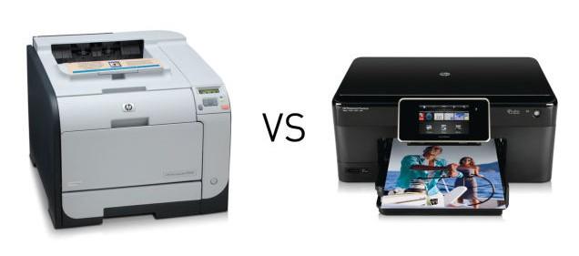 impresora laser y tinta