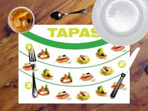 mantel papel mesa ejemplo