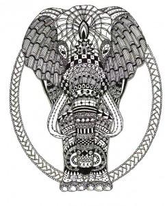 zentangle elefante